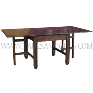 Custom Reclaimed Teak Gateleg Table