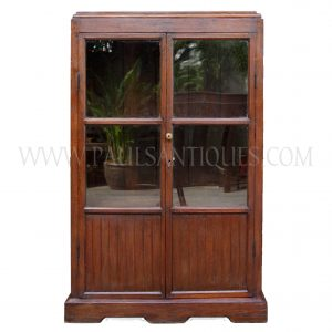 Burmese Art-Deco Teak Bookcase