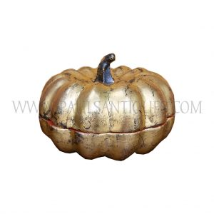Burmese (Mandalay) Gold on Red Lacquer Pumpkin Gourd Box