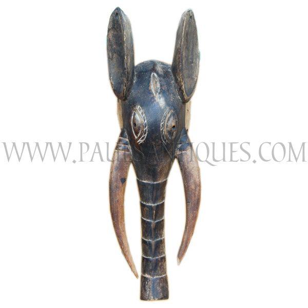 African (Western Grasslands, Cameroon) Wooden Babanki Elephant Mask, c. 1970