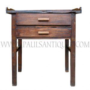 Thai Teak and Rosewood Jeweler's Workbench