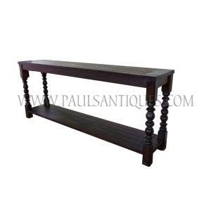 100% Repurposed Teak Wood Console from Salvaged Shop House Doors and Balusters