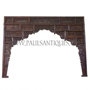 Javanese Indonesian Teak Lattice Entryway Carving