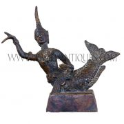 Thai Bronze Figurine of Mermaid Princess