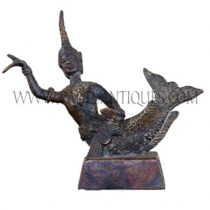 Thai Bronze Figurine of Mermaid Princess