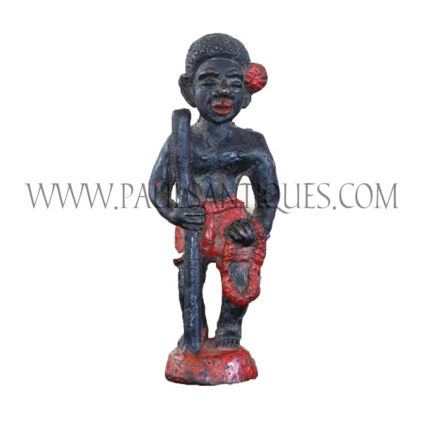 "Thai Painted Brass Statue of ""Mani"" People or ""Sakai"" Tribe"